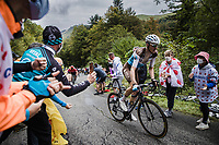 Romain Bardet (FRA/AG2R La Mondiale) up the Col de Marie Blanque<br /> <br /> Stage 9 from Pau to Laruns 153km<br /> 107th Tour de France 2020 (2.UWT)<br /> (the 'postponed edition' held in september)<br /> ©kramon