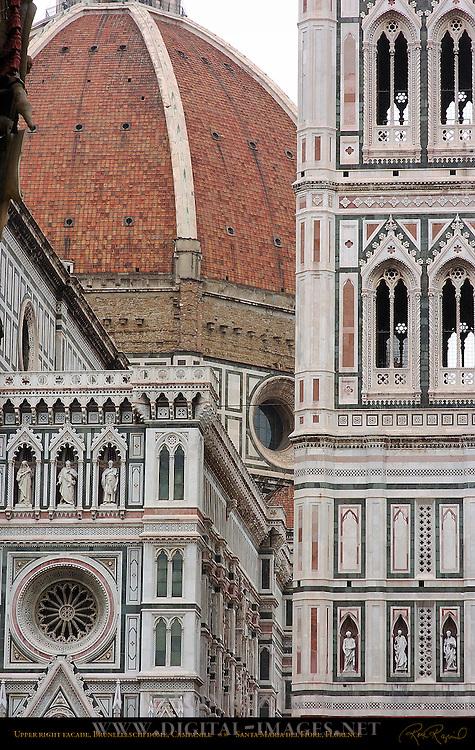 Upper Right Facade Brunelleschi Dome Giotto Campanile Santa Maria del Fiore Florence