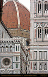 Upper Right Facade Brunelleschi Dome Giotto Campanile Santa Maria del Fiore Florence