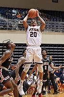SAN ANTONIO, TX - DECEMBER 22, 2020: The University of Texas at San Antonio Roadrunners defeat the Lamar University Cardinals 88-66 at the Historic UTSA Convocation Center (Photo by Jeff Huehn).