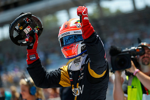 Verizon IndyCar Series<br /> Indianapolis 500 Carb Day<br /> Indianapolis Motor Speedway, Indianapolis, IN USA<br /> Friday 26 May 2017<br /> James Hinchcliffe, Schmidt Peterson Motorsports Honda, Pit Stop Competition<br /> World Copyright: Jake Galstad<br /> LAT Images