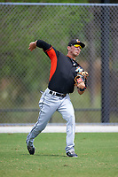 Miami Marlins Zach Sullivan (40) during practice before a minor league Spring Training intrasquad game on March 31, 2016 at Roger Dean Sports Complex in Jupiter, Florida.  (Mike Janes/Four Seam Images)