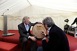 "Henry Conyngham, the eighth Marquess Conyngham  with son Alex Conyngham, Earl of Mount Charles signing the first cask at the ground breaking for the new $50 Million Slane Distillery on the grounds of Slane Castle.<br /> Picture Fran Caffrey /Newsfile.ie<br /> <br /> BROWN-FORMAN BREAKS GROUND ON<br /> NEW $50 MILLION SLANE DISTILLERY<br /> <br /> US Ambassador joins Conyngham and Brown families for historic occasion<br /> <br /> Distillery and Visitor Centre to be completed late 2016<br /> <br /> The US Ambassador to Ireland, Kevin F. O'Malley, was guest of honour today at the official ground breaking ceremony for the $50 million (approximately €44 million) Slane Distillery on the historic Slane Castle Estate in Co. Meath, home of Henry Conyngham, the eighth Marquess Conyngham, and his son Alex Conyngham, Earl of Mount Charles.<br />  <br /> The distillery, which will also include a Visitor Centre, is being built by leading US Drinks firm Brown-Forman Corporation, the owners of Jack Daniel's, Southern Comfort and Woodford Reserve which bought all shares of Slane Irish Whiskey Company from the Conyngham family earlier this year.  The Conynghams remain centrally involved in the development of the new distillery and the new whiskey brands which will be introduced in early 2017. <br />  <br /> This is the first new distillery Brown-Forman has built outside of the US and represents its entry into distilling Irish whiskey, one of the fastest growing spirits categories over the last few years.  When completed by the end of 2016, Slane Distillery will create nearly 25 new full-time jobs while the construction process will support approximately 80 jobs.  The Slane Distillery and Visitor Centre will be a welcome new attraction to the Boyne Valley tourism trail.<br />  <br /> The US Ambassador signed the first cask that will be filled with whiskey from the distillery and commented on the significance of the occasion, ""There are so many links between Ireland and the great state of Kentucky – people, music, horses and a great tradition of making the finest whiski"