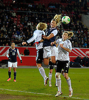 Offenbach, Germany, Friday, April 05 2013: Womans, Germany vs. USA, in the Stadium in Offenbach,   Christie Mewis (USA).