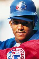 Pedro Martinez of the Montreal Expos at Dodger Stadium in Los Angeles,California during the 1996 season. (Larry Goren/Four Seam Images)