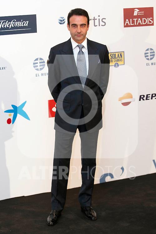"""King Felipe of Spain and Queen Letizia of Spain attend 'XIII EDICIÓN DE LOS PREMIOS INTERNACIONALES DE PERIODISMO 2013 Y CONMEMORACIÓN DEL 25º ANIVERSARIO DEL DIARIO """"EL MUNDO"""" at The Westin Palace Hotel. <br /> Enrique Ponce<br /> October 20, 2014. (ALTERPHOTOS/Emilio Cobos)"""