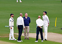 Acting Kent captain Heino Kuhn (L) wins the toss and decides to bowl during Kent CCC vs Sussex CCC, LV Insurance County Championship Group 3 Cricket at The Spitfire Ground on 11th July 2021