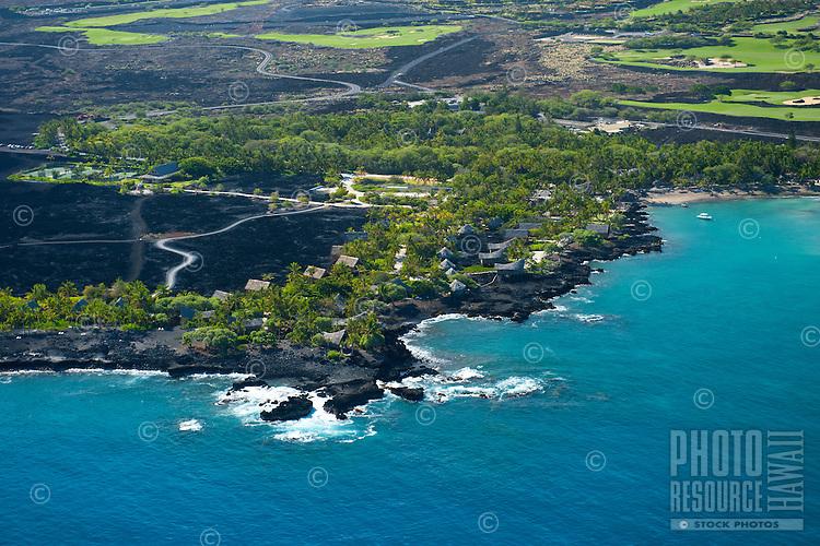 Aerial view of The Kona Village Resort