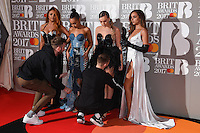 Little Mix<br /> arrives for the BRIT Awards 2017 held at the O2 Arena, Greenwich, London.<br /> <br /> <br /> ©Ash Knotek  D3233  22/02/2017