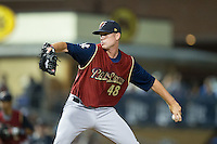 Scranton/Wilkes-Barre RailRiders relief pitcher Tyler Webb (48) in action against the Durham Bulls at Durham Bulls Athletic Park on May 15, 2015 in Durham, North Carolina.  The RailRiders defeated the Bulls 8-4 in 11 innings.  (Brian Westerholt/Four Seam Images)