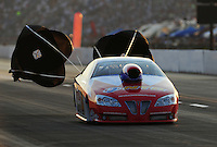 Jul, 9, 2011; Joliet, IL, USA: NHRA pro stock driver Shane Gray during qualifying for the Route 66 Nationals at Route 66 Raceway. Mandatory Credit: Mark J. Rebilas-