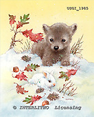 GIORDANO, CHRISTMAS ANIMALS, WEIHNACHTEN TIERE, NAVIDAD ANIMALES, paintings+++++,USGI1985,#XA# dogs,puppies