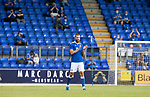 St Johnstone v Preston North End…13.07.21  McDiarmid Park<br />Shaun Ronney is applaued by the fans on the 32nd minute<br />Picture by Graeme Hart.<br />Copyright Perthshire Picture Agency<br />Tel: 01738 623350  Mobile: 07990 594431