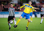 Dunfermline v St Johnstone..24.12.11   SPL .Dave Mackay and Joe Cardle.Picture by Graeme Hart..Copyright Perthshire Picture Agency.Tel: 01738 623350  Mobile: 07990 594431