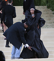 September 13, 2021.Rihanna attend The 2021 Met Gala Celebrating In America: A Lexicon Of Fashion at<br /> Metropolitan Museum of Art  in New York September 13, 2021 Credit:RW/MediaPunch