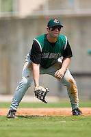 Augusta first baseman Matthew Weston (19) on defense versus Kannapolis at Fieldcrest Cannon Stadium in Kannapolis, NC, Monday, September 3, 2007.