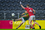 Dara Moynihan, Kerry in action against Kevin Flahive, Cork, during the Munster GAA Football Senior Championship Semi-Final match between Cork and Kerry at Páirc Uí Chaoimh in Cork.
