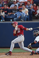 Nick Tanielu #30 of the Washington State Cougars bats against the Cal State Fullerton Titans at Goodwin Field on  February 15, 2014 in Fullerton, California. Washington State defeated Fullerton, 9-7. (Larry Goren/Four Seam Images)