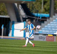 12th September 2020 The John Smiths Stadium, Huddersfield, Yorkshire, England; English Championship Football, Huddersfield Town versus Norwich City;  Ben Jackson of Huddersfield Town  plays the ball forward