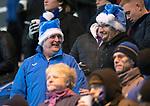 Hamilton Accies v St Johnstone…09.12.17…  New Douglas Park…  SPFL<br />Happy saints fans in the christmas spirit with santa hats<br />Picture by Graeme Hart. <br />Copyright Perthshire Picture Agency<br />Tel: 01738 623350  Mobile: 07990 594431