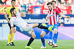 Pablo Sarabia Garcia (l) of Sevilla FC fights for the ball with Saul Niguez Esclapez of Atletico de Madrid during their La Liga match between Atletico de Madrid and Sevilla FC at the Estadio Vicente Calderon on 19 March 2017 in Madrid, Spain. Photo by Diego Gonzalez Souto / Power Sport Images