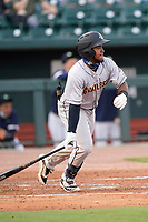 First baseman Alexander Ovalles (26) of the Charleston RiverDogs in a game against the Columbia Fireflies on Tuesday, May 11, 2021, at Segra Park in Columbia, South Carolina. (Tom Priddy/Four Seam Images)