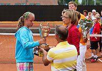 10-08-13, Netherlands, Rotterdam,  TV Victoria, Tennis, NJK 2013, National Junior Tennis Championships 2013,  Prize giving, <br /> <br /> Photo: Henk Koster
