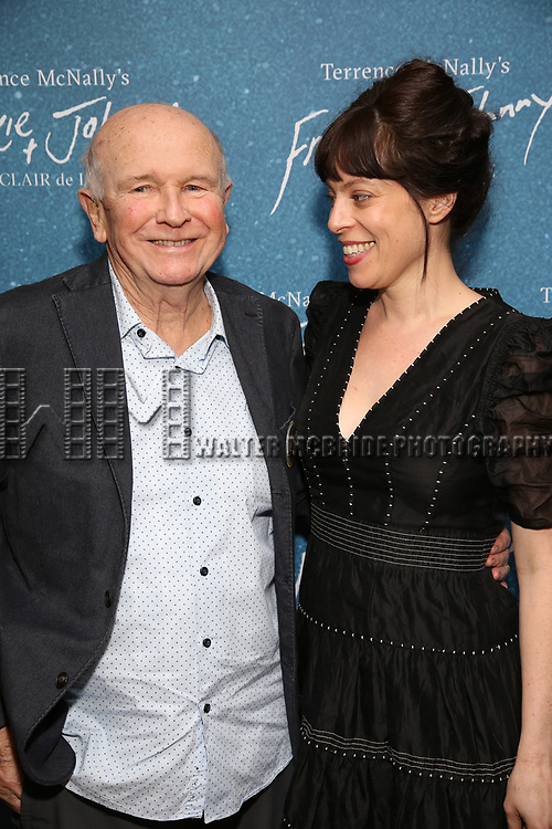"""Terrence McNally and Arin Arbus during the Opening Night After Party for """"Frankie and Johnny in the Clair de Lune"""" at the Brasserie 8 1/2 on May 29, 2019  in New York City."""