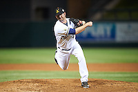 Salt River Rafters pitcher Tyler Spurlin (46), of the Milwaukee Brewers organization, during a game against the Surprise Saguaros on October 21, 2016 at Salt River Fields at Talking Stick in Scottsdale, Arizona.  Salt River defeated Surprise 3-2.  (Mike Janes/Four Seam Images)