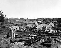Ruins of Atlanta.  1864.  George N. Barnard. (Army)<br /> Exact Date Shot Unknown<br /> NARA FILE #: 111-B-4748<br /> WAR & CONFLICT BOOK #:  241