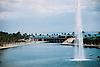 view over the lagoon Parc de la Mar to the Mediterranean Sea<br /> <br /> vista sobre el Parc de la Mar al Mar Mediterráneo<br /> <br /> Blick über den Parc de la Mar auf das Mittelmeer<br /> <br /> 1840 x 1232 px<br /> Original: 35 mm