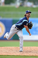Corpus Christi Hooks pitcher Michael Dimock (19) delivers a pitch during a game against the NW Arkansas Naturals on May 26, 2014 at Arvest Ballpark in Springdale, Arkansas.  NW Arkansas defeated Corpus Christi 5-3.  (Mike Janes/Four Seam Images)
