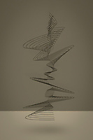 Abstract swirling spiral sculpture