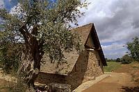 Zypern (Süd), Scheunenkirche Panagia Eleousa Podithou in Galata, erbaut 1502, Unesco-Weltkulturerbe