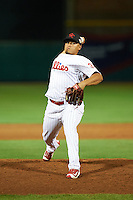 Scottsdale Scorpions pitcher Victor Arano (38), of the Philadelphia Phillies organization, during a game against the Mesa Solar Sox on October 17, 2016 at Scottsdale Stadium in Scottsdale, Arizona.  Mesa defeated Scottsdale 12-2.  (Mike Janes/Four Seam Images)