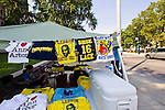 A lot of love for the school's football team and much hate are sold on t-shirts from a vendor outside the Michigan Union on State Street, Friday, Sept. 2, 2011 in Ann Arbor, Mich. (Tony Ding for The New York Times)