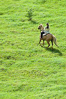Horseback riding at Annaly Farm<br /> St. Croix<br /> U.S. Virgin Islands