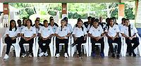CALI-COLOMBIA,10-07-2019.Presentacion del equipo femenino del Deportivo Cali./ <br /> Presentation of the women's team of Deportivo Cali. Photo: VizzorImage/ Nelson Rios / Contribuidor