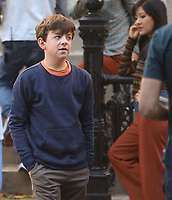 September 24, 2021.Winslow Fegley filming on location for  Sony pictures Lyle Lyle Crocodile<br />   in New York September 24, 2021 Credit:RW/MediaPunch