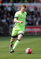 Kevin De Bruyne of Manchester City during the Swansea City FC v Manchester City Premier League game at the Liberty Stadium, Swansea, Wales, UK, Sunday 15 May 2016