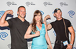 Ray Molinere, Kellie Martin and Jay Paul Molinere at the Time Warner Media Cabletime Upfront media event held at the Private Social Restaurant  in Dallas, Texas.