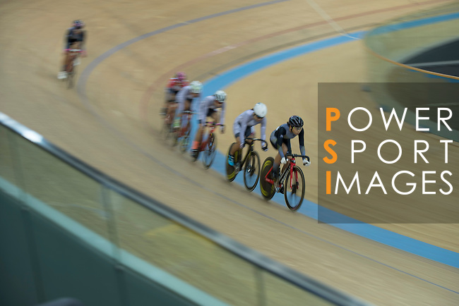 Leung Wing Yee of the Ligne 8- CSR competes in the Women Elite - Pointe Race 20km Final category during the  Hong Kong Track Cycling National Championships 2017 at the Hong Kong Velodrome on 18 March 2017 in Hong Kong, China. Photo by Chris Wong / Power Sport Images