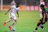 LAKE BUENA VISTA, FL - JULY 14: Raymon Gaddis #28 of the Philadelphia Union dribbles the ball during a game between Inter Miami CF and Philadelphia Union at Wide World of Sports on July 14, 2020 in Lake Buena Vista, Florida.