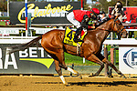 OCT 03, 2020 :  Frank's Rockette with Junior Alverado aboard, wins the Grade 2 Gallant Bloom Stakes, for fillies & mares, going 6/2 furlongs at Belmont Park, Elmont, NY.  Sue Kawczynski/Eclipse Sportswire/CSM