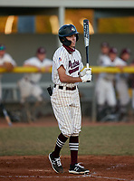 Braden River Pirates Camden Sprague (3) bats during a game against the Venice Indians on February 25, 2021 at Braden River High School in Bradenton, Florida. (Mike Janes/Four Seam Images)