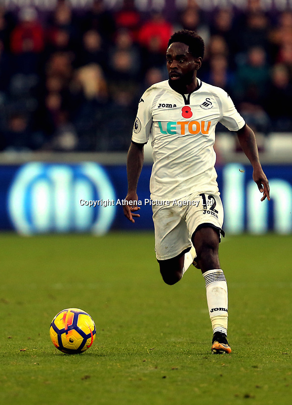 Nathan Dyer of Swansea City in action during the Premier League match between Swansea City and Brighton and Hove Albion at The Liberty Stadium, Swansea, Wales, UK. Saturday 04 November 2017