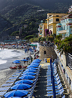 The seaside resort town of Monterosso is part of Cinq Terre.