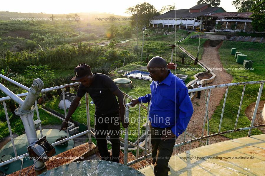 TANZANIA Tanga, Katani Ltd. Biogas Plant in Hale, the remaining fibres and pulp from sisal production is used for fermentation to produce biogas / TANSANIA Tanga, Katani Biogasanlage, aus den resten der Sisal Produktion wird Biogas gewonnen