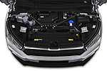High angle engine detail of a 2021 Skoda Enyaq IV 80 SUV