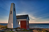 Bell house at Pemaquid Point Lighthouse, Maine, USA